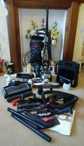 KIRBY AVALIR VACUUM CLEANER WITH HOSE CADDY TOOLS SPARE BAGS & SHAMPOO ACCESSORY