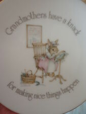 Lasting Treasures Wall Plate Grandmothers...Mouse Saucer Decorative Art Vintage