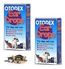 Otodex Veterinary Ear Drops Dog Cat Pet Cleaner Relief Wax Mites 28 ml 2 bottles