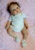 "New 20"" 6lb 9oz Reborn baby girl rooted mohair painted w/ GHSP pacifier E.Knoops"