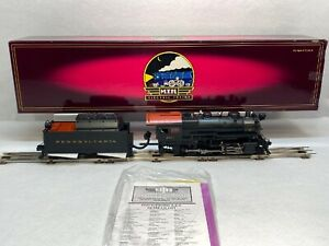 MTH Premier 20-3209-1 PRR H10s Consolidation 2-8-0 Hi-Rail Wheels PS2 O Used