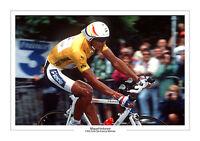 MIGUEL INDURAIN TOUR DE FRANCE 1995  A4 PHOTO SPAIN CYCLING