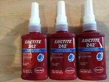 Loctite 242 Threadlocker Medium Strength 50ml - USA - 3 bottles.