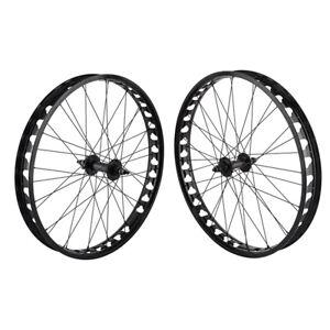 "SE Bikes JP60 26"" Fat Bike Wheelset Black 36H Single Speed 6B Disc 135-170 B/O"