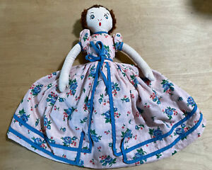 Lovely Vintage Topsy/turvy EFA Type Cloth Doll- Very Good Condition-handmade
