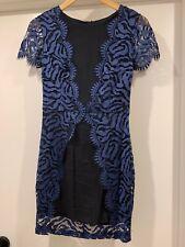 Collette Dinnigan Blue Lace Dress Size XS