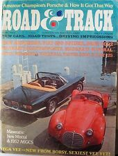 1968 APRIL ROAD & TRACK CAR MAGAZINE - MERCEDES -MASERATI -FIAT