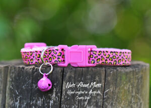 Pink Leopard cat collar  Free shipping within Australia