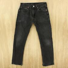 faded & distressed vtg usa made LEVI's 501 jeans 31 x 30 tag black hesher #3