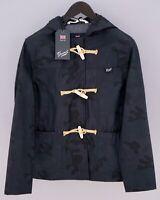Women Gloverall Jacket Duffle Coat Camouflage Shower Proof M UK12 ZIA478