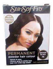 3 X Sta-Sof-Fro Permanent Powder Hair Colour Dye Black