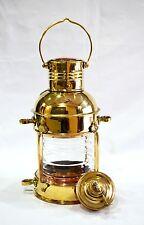 """Lantern Marine Anchor 10"""" Decortive Oil Lamp Nautical Ship Lantern Brass Finish"""