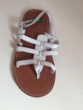Brand New Kids White Children's Sandals Size 2 EU33 United Colors of Benneton