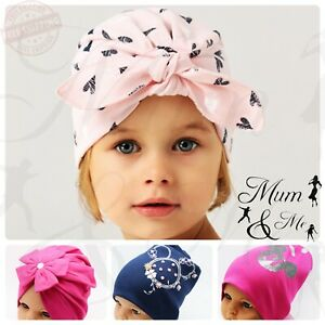 NEW Infant Kids Baby Girls Hat Cotton Spring Autumn Toddler Beanie Pull Slouch