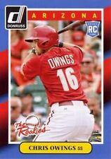 2014 Donruss The Rookies #27 Chris Owings Arizona Diamondbacks