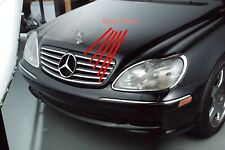 Sport Grille Silver Chrome Trim for Mercedes Benz W220 S Class S430 S500 03-07