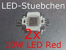 2x 10W High-Power LED Rot