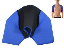 New Blue Double Shoulder Neoprene Bandage Injury Support Wrap Sport Brace Back