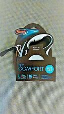 Flexi New Comfort Tape Leash Gray 16 ft , L Dogs Up To 132 lb. UPC: 840317106428