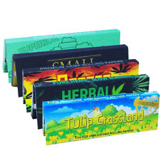 "5 Packs Variety 1 1/4 Size Cigarette Tobacco Rolling Paper 1.25"" Smoking Papers"