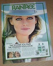 1978 vintage print ad - KELLY HARMON RainTree skin Noxzema magazine PAGE Advert