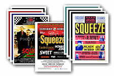 SQUEEZE  - 10 promotional posters  collectable postcard set # 1