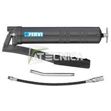 Pompa ingrassatore manuale FERVI 0677 500cc con tubo di attacco morbido e rigido