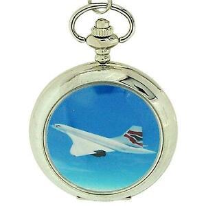 Boxx Gents British Airways Concord Pocket Watch on 12 Inch Chain Boxx89