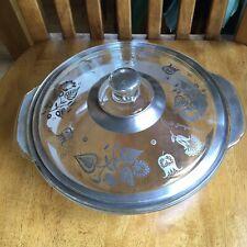 Georges Briard Fire King Silver Damask Floral 2 Quart Casserole Dish W/ Lid Mcm