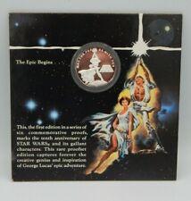 STAR WARS 1oz. .999 SILVER ~ Rarities Mint 10th Anniversary Coin Luke & Leia