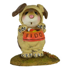 Wee Forest Folk FEED THE DOG, WFF# M-591a,  Halloween Dog Costume Mouse