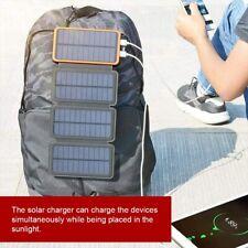 Solar Charger 12000mAh,EREMOKI Outdoor Portable Power Bank 4 Solar Panels ORANGE