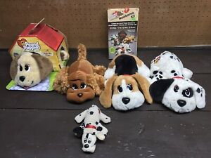 Lot of (6) Vintage Pound Puppies Pick-Me Pups Newborn Kit Tan Spot Brown Black