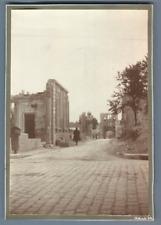 France, Reims, Un coin de la ville après la 1er Guerre Mondial   Vintage silver