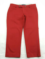 Banana Republic Womens Size 2 Capri Chino Pants, Solid Red, Low Rise - Inseam 23