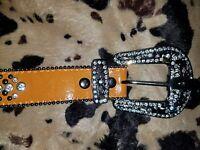 """Rhinestone cowgirl belt L/XL 44"""""""