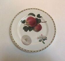 "Queens Rosina Hooker's Fuit Apple Salad Plate 8 5/8"" Bone China India"