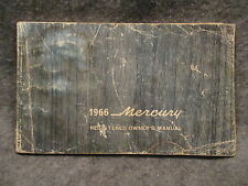1966 Mercury Owners Users Manual Guide Reference Book LM-3691-M-66 M262