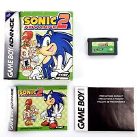 Sonic Advance 2 (Nintendo Game Boy Advance, 2003) Authentic Complete Tested