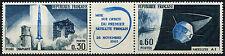 Francia 1965 SG#1697a Satellite estampillada sin montar o nunca montada Set + Etiqueta #D43641