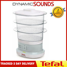 Tefal Mini Compact Steamer 3 Tier Electric Food Steamer In White VC130115