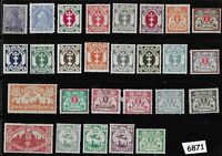 #6871      27 different Unused 1921-1923 Germany stamps Danzig Poland Free state