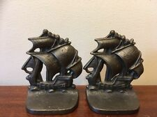 Solid Metal Ship Pirate Nautical Bookends
