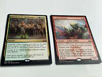 2x  MTG Guilds of Ravnica Rares Legion Warboss & March of the Multitudes