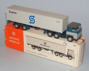 WIKING 1/87th HO #520 SCANIA 110 ARTIC CONTAINER TRUCK SEATRAIN VINTAGE 1970's
