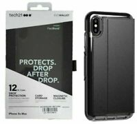 Tech21 Evo Wallet Case Card Storage Cover for Apple iPhone XS Max Black