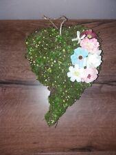 Dekoration Türkranz Geschenk Idee Herz Moos Blumen