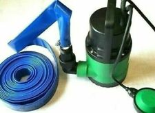 Submersible Water Pump Electric Dirty Clean Pond Pool Well Flood 400W & 5m Hose