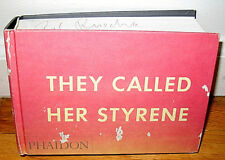 SIGNED Edward Ed Ruscha They Called Her Styrene Word Drawings Paintings Works HC