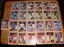 50 different 1984/85 OPC o-pee-chee HOCKEY cards between #154-292 pack fresh